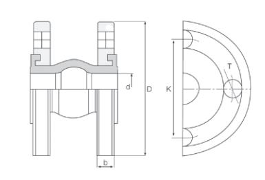 Схема Компенсатор фланцевый Hornhof HRJ23